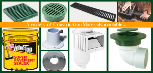 A variety of Construction Material