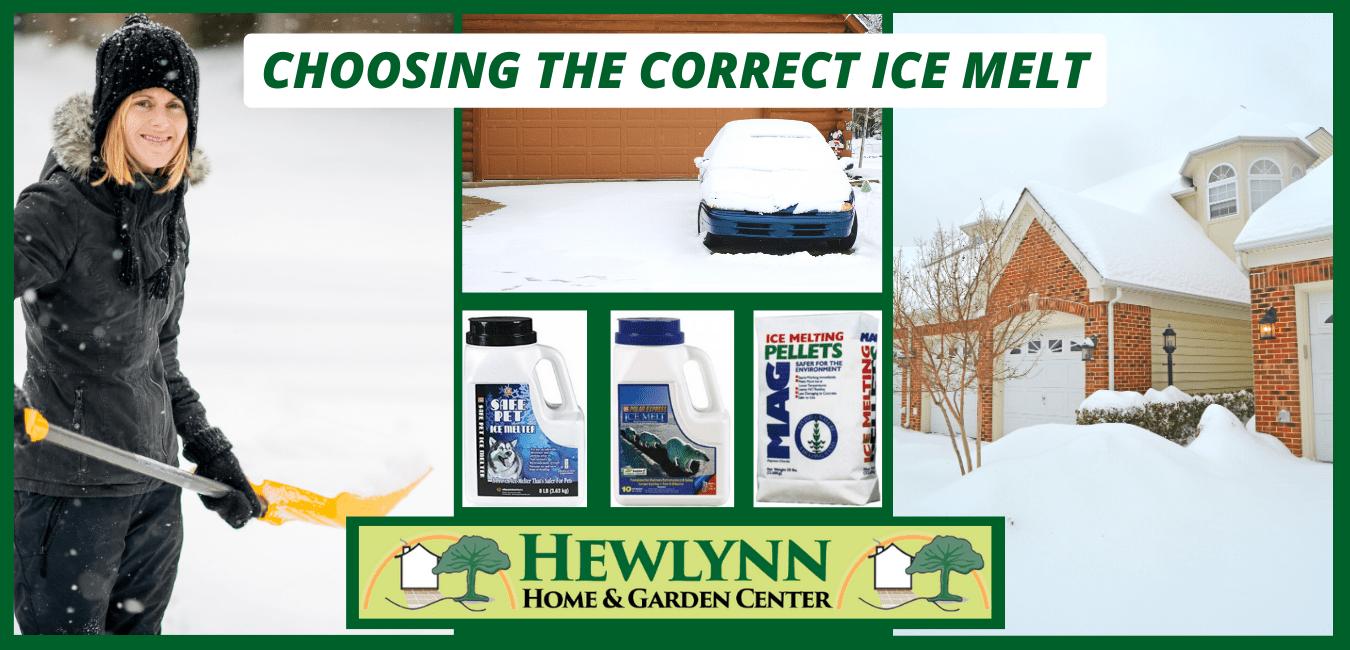 CHOOSING THE CORRECT ICE MELT