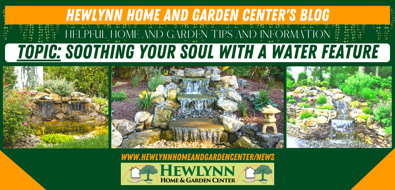 SOOTHING YOUR SOUL WITH A WATER FEATURE