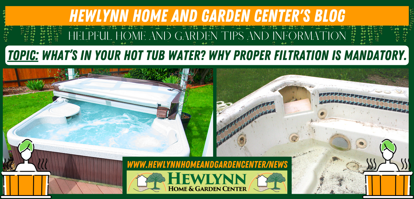 WHAT'S IN YOUR HOT TUB WATER? WHY PROPER FILTRATION IS MANDATORY