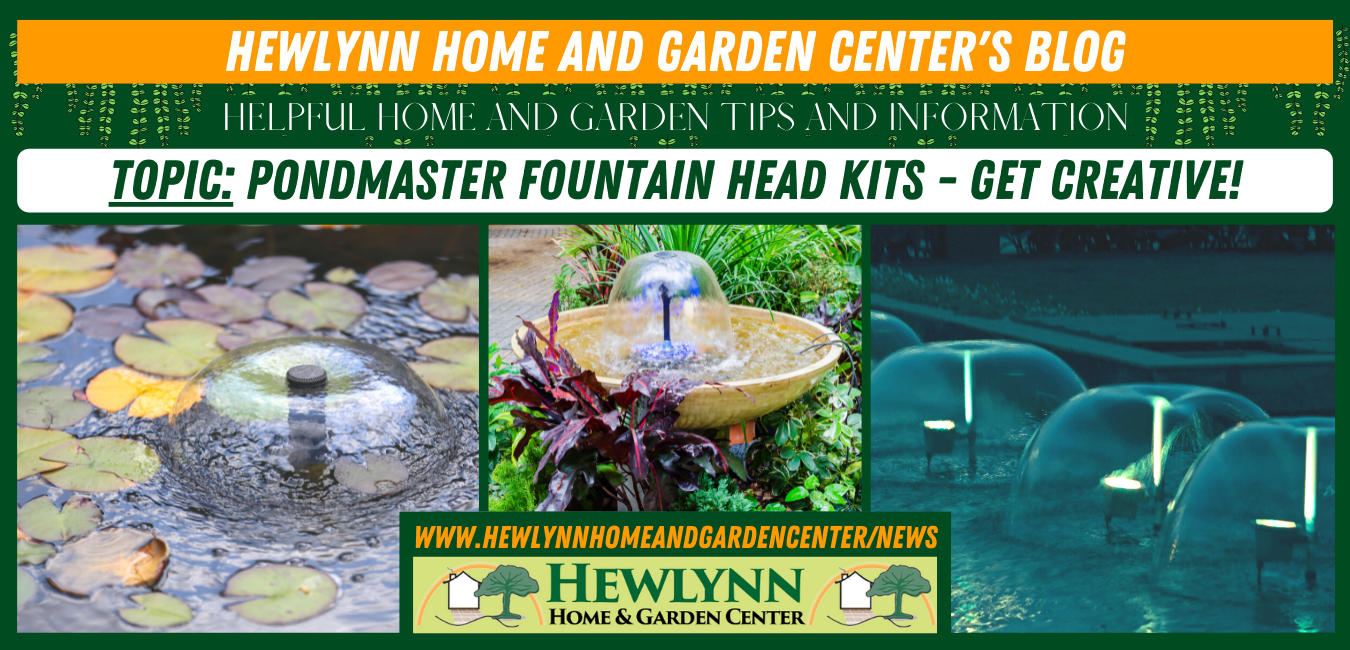 Read more about the article Pondmaster Fountain Head Kits – Get creative!